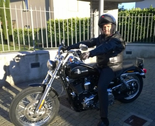 Marco Berti and his Harley