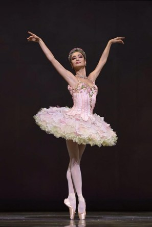 Mathilde Froustey as the Sugar Plum Fairy in December 2014 when she danced the opening night of Helgi Tomasson's Nutcracker -photo by Erik Tomasson