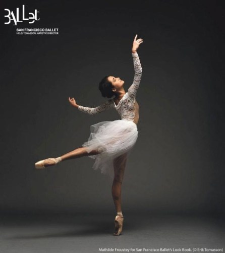 Mathilde Froustey by Erik Tomasson for San Francisco Ballet's Look Book for Helgi Tomasson's 30th Season