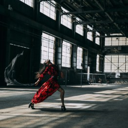 Mathilde Froustey photographed by Luxrad in April 2015 in an old factory in the Dogpatch district of San Francisco