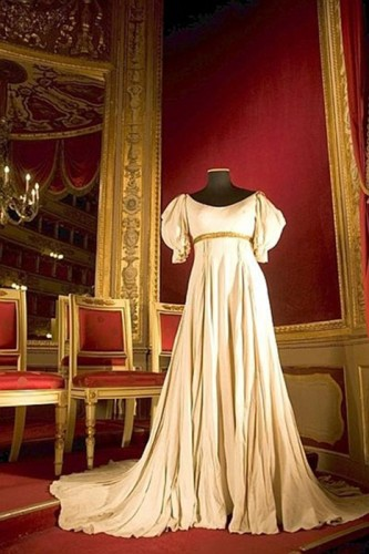 A costume made by Brancato in the Royal Box at La Scala