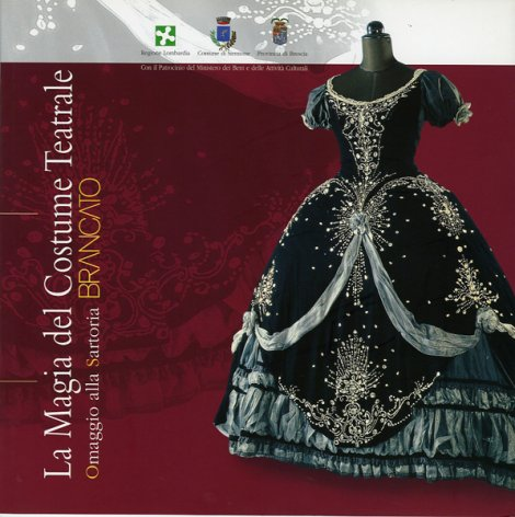 Poster for an exhibition of costumes made by Sartoria Brancato