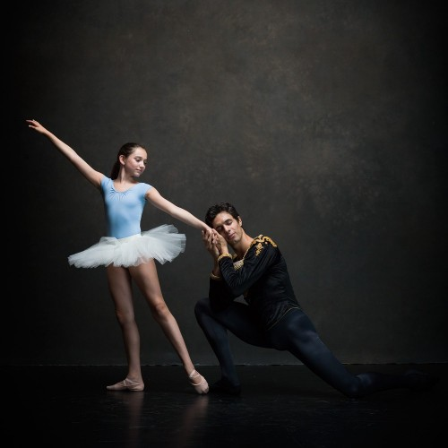 Ken and Deborah's 11-year old daughter, Jenna, who attends the ABT school, with ABT soloist, Alexandre Hammoudi