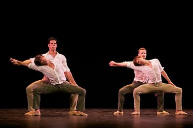 Marcelo Gomes and Joaquín de Luz (left) and Denis Matvienko with Friedemann Vogel in Tristesee - photo by Dasa Wharton