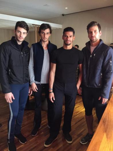 Thiago Soares and models ready for the catalogue shoot