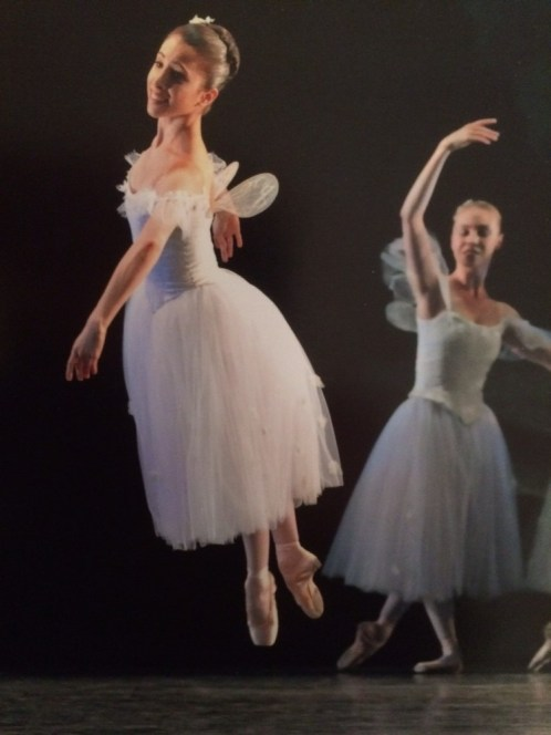 Yasmine Naghdi as First Sylph in La Sylphide with The Royal Ballet, aged 18 - photo by Dave Morgan