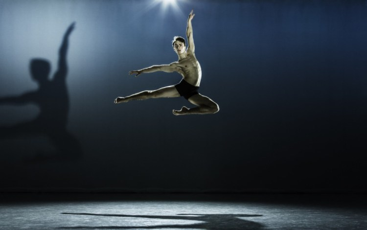 Matthew Ball in an audition photo, 3rd Year the Royal Ballet Upper School, in 2012 aged 18 - photo by Johan Persson