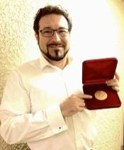 Carlo Colombara with the Boris Christoff medal after performing 3 operas in Sofia for the Centenary celebrations
