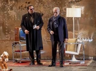 Carlo with José Carreras during performances of El Juez, Teatro Arriaga in Bilbao 2014