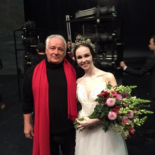 Vika as Myrtha with Patrice Bart after the Giselle premiere