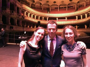 Vika with Alexei and Tatiana Ratmansky after the Swan Lake premiere in Zurich