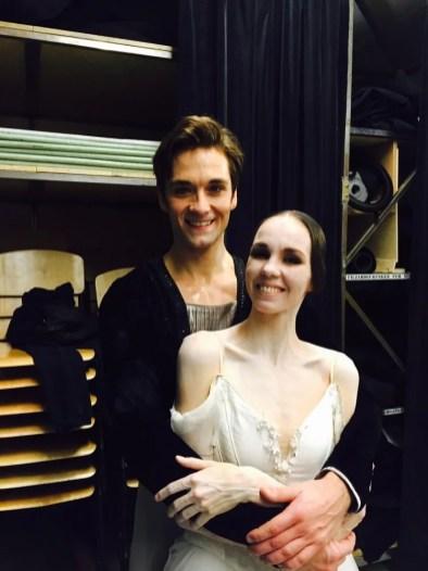 Vika with Friedemann Vogel in Zurich after Giselle