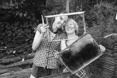 Vika 'with my beautiful Mum' in Cheboksary
