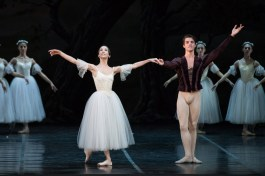 After Giselle, Rebecca Bianchi with Claudio Coviello - photo by Yasuko Kageyama, Rome Opera Ballet