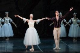 After Giselle, Rebecca Bianchi with Claudio Coviello - photo by Yasuko Kageyama, Rome Opera Ballet