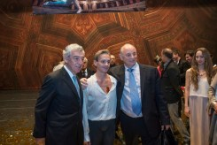Luis Ortigoza with Argentine choreographer Mauricio Wainrot and the Argentine Ambassador