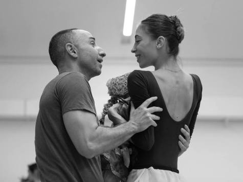 Rebecca Bianchi during The Nutcracker rehearsals with choreographer Giuliano Peparini - photo Yasuko Kageyama, Teatro dell'Opera di Roma