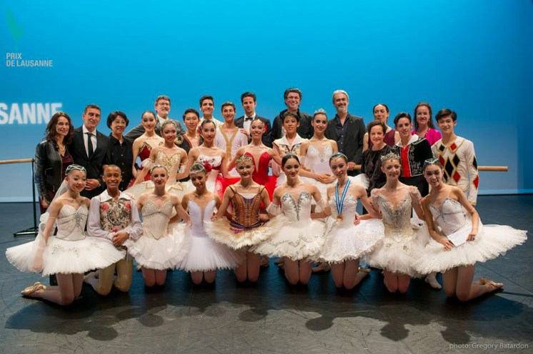 The winners together with the jury at the Prix de Lausanne 2016
