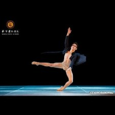 Vincenzo di Primo dancing his contemporary variation at the Beijing International Ballet Competition