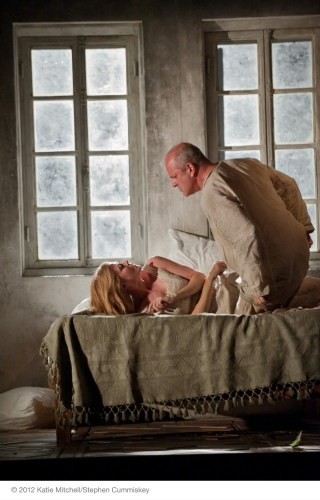 WRITTEN ON SKIN - CHRISTOPHER PURVES AS PROTECTOR, BARBARA HANNIGAN AS AGNES (C) ROH/ STEPHEN CUMMISKEY