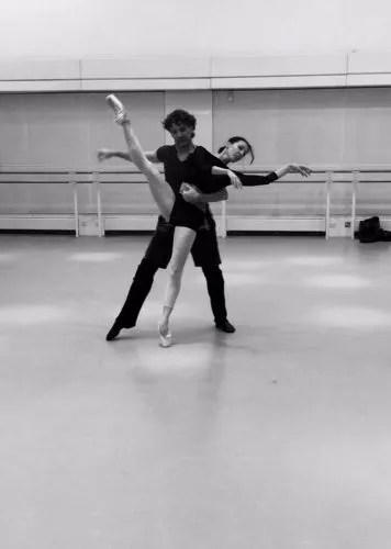 Mara Galeazzi rehearsing with Gary Avis