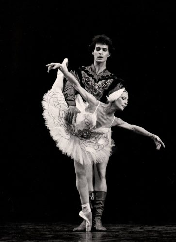 Paul Chalmer with Natalia Makarova in Swan Lake - English National Ballet 2