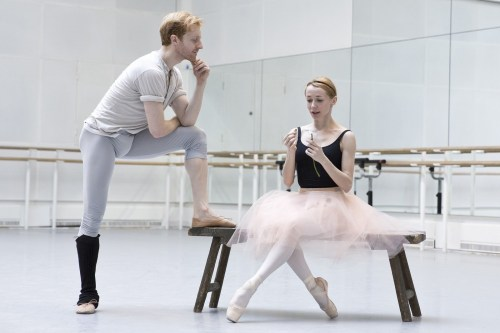 Steven McRae as Albrecht and Iana Salenko as Giselle in rehearsal for Giselle, The Royal Ballet © 2016 ROH. Photo by Andrej Uspenski