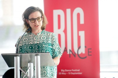 Emma Gladstone at the Dance Umbrella - Big Dance debate - photo by Tom Simpson