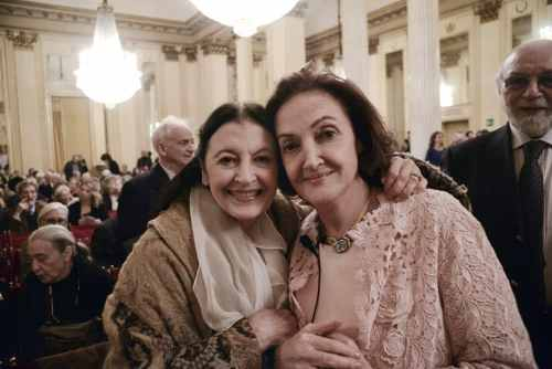 Carla Fracci and Anna Crespi Morbio - photo by Gerardo Pizzocari