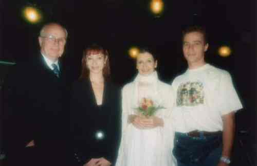 Lisa-Maree Cullum with Carla Fracci, Beppe Menegatti and Yannick Boquin at the Leonide Massine Awards, Positano 1995