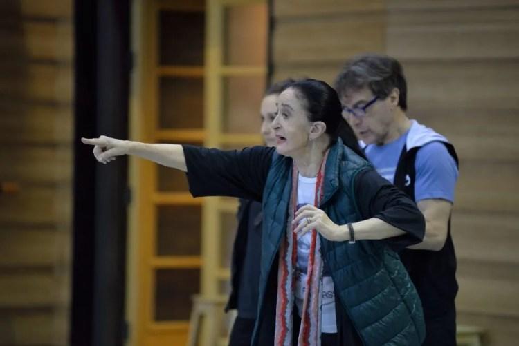 Marcia Hydée in rehearsals - photo by Amalia Pedreiras, BNS | Ballet Nacional Sodre