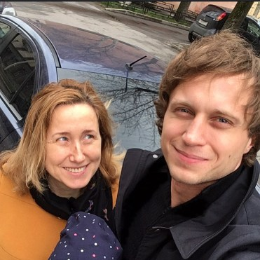 Andrey with his mother Lidia Ermakova