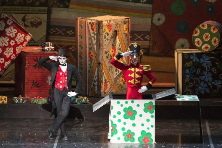 Manule Paruccini as Drosselmeier and Claudio Cocino as the Nutcracker photo by Yasuko Kageyama, Opera di Roma 2014