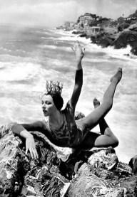 Yvette Chauviré wearing her Nautéos costume by Serge Lido, Nervi, Genoa, 1957