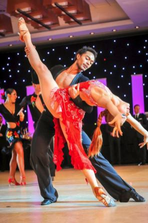 Abdiel Cedric Jacobsen with his professional Ballroom and Latin Dance partner, Kelsey Burns photo by Alex Rowan