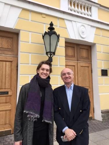 Julian with Mikhail Messerer