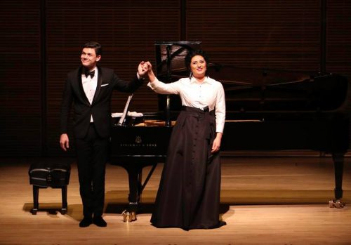 David Aladashvili with Anita Rachvelishvili at Carnegie Hall