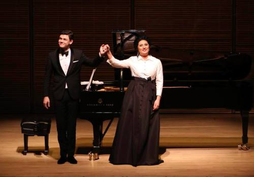 David Aladashvili with Anita Rachvelishvili at Carnegie Hall