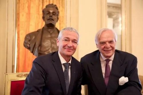 Alexander Pereira and Frédéric Olivieri at the Ballet Season press conference, photo Brescia e Amisano