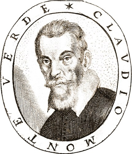 Claudio Monteverdi, engraved portrait from Fiori poetici , 1644