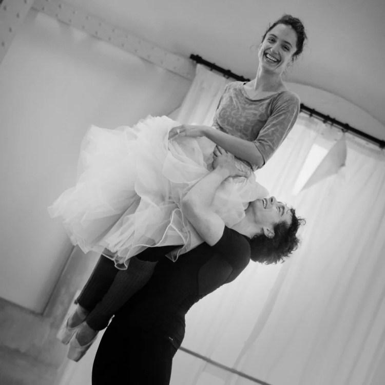 Dorothée Gilbert and István Simon rehearse Giselle, photo by Ann Ray Anne Deniau 4