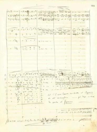 From the autograph score of Traviata with 1854 revision to the libretto for Violetta and instructions to Ricordi's copyist © Istituto Nazionale di Studi Verdiani