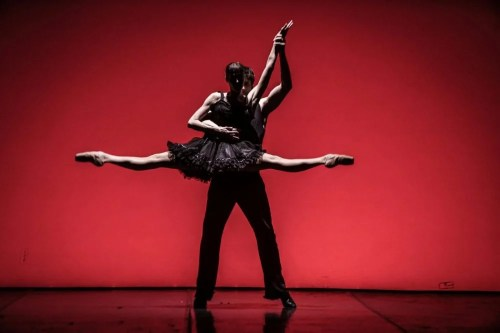 Sabrina Brazzo and Andrea Volpintesta in Massimiliano Volpini's Tango, photo by Franco Covi