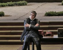 Thomas Hampson as Iago in Otello, photo by Ken Howard, Met Opera