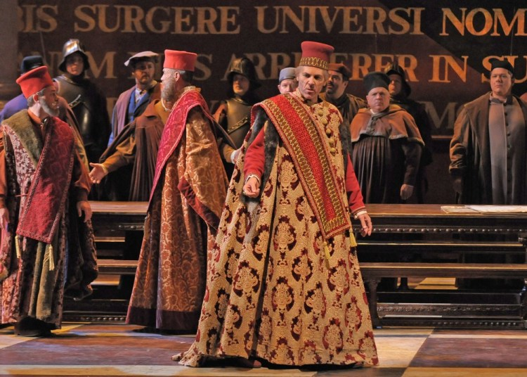 Thomas Hampson in Simon Boccanegra, photo by Dan Rest Lyric Opera of Chicago