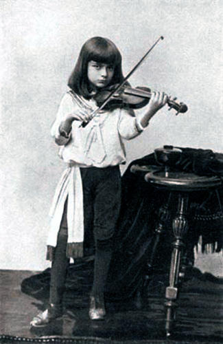 Bronislaw Huberman, child prodigy in 1889