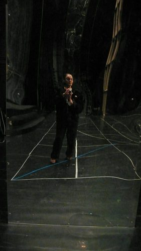 Self portrait in the set of Swan Lake for Gheorghe Iancu in Bucharest