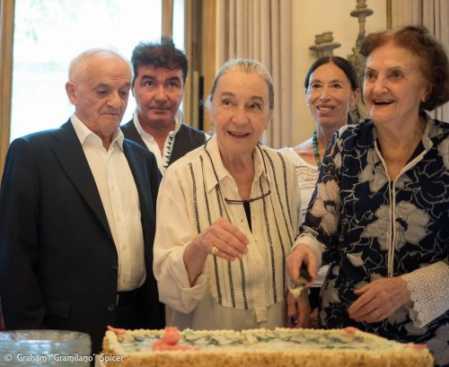 from left, Ferruccio Soleri, Carlo Orlandi, Luisa Spinatelli, Luciana Savignano and Anna Crespi