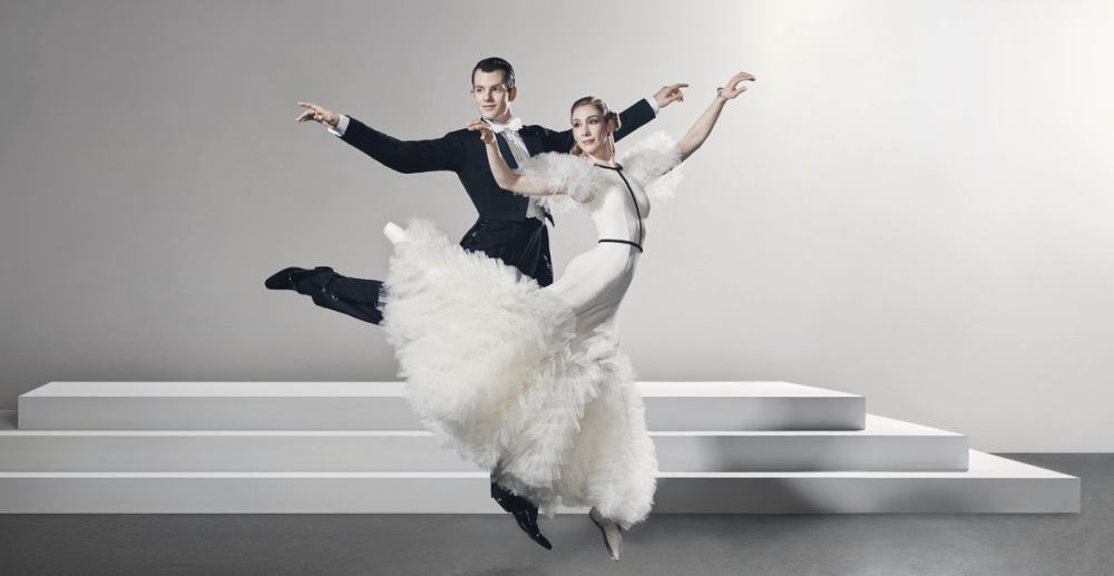 Queensland Ballet dancers Shane Weurthner and Lisa Edwards in publicity still for Derek Deane's Strictly Gershwin