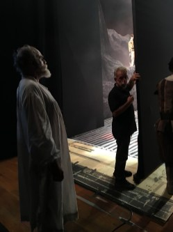 Backstage before final curtain calls, Sao Paulo